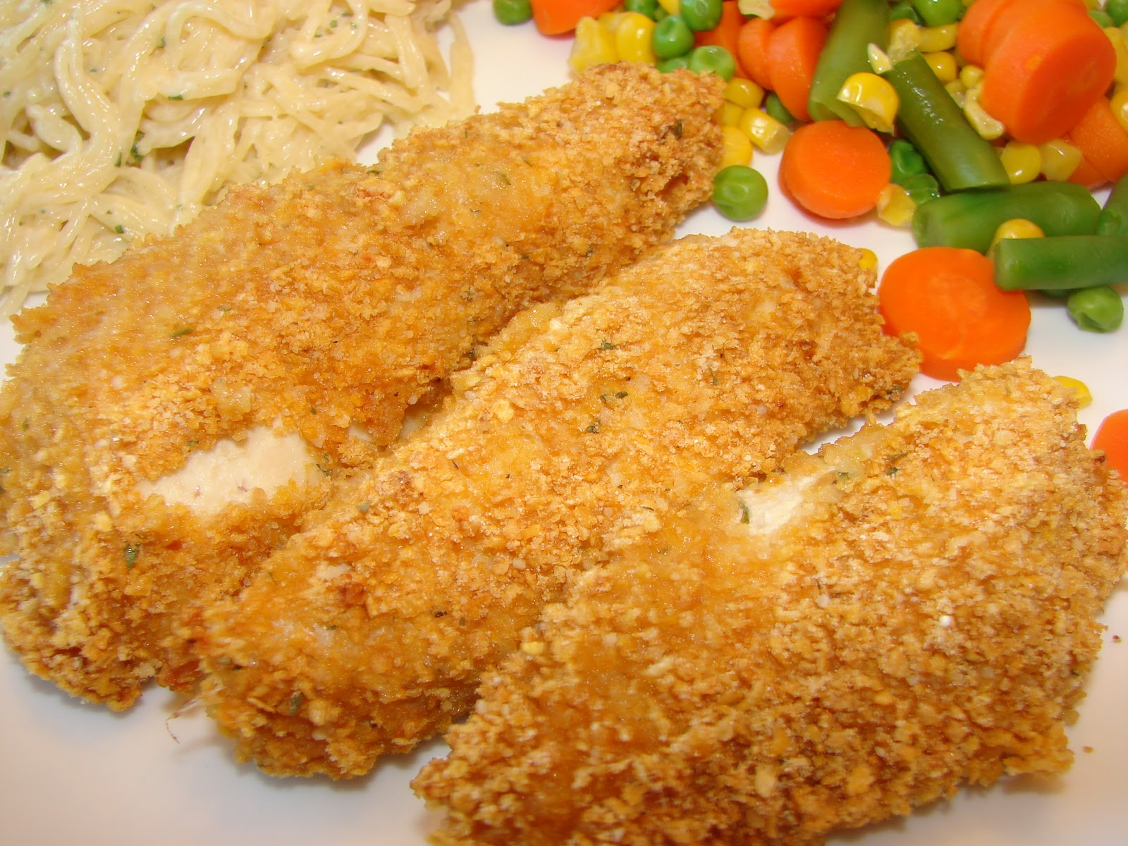 Crunchy Chicken Tenders With Herb-Buttermilk Dressing Recipes ...