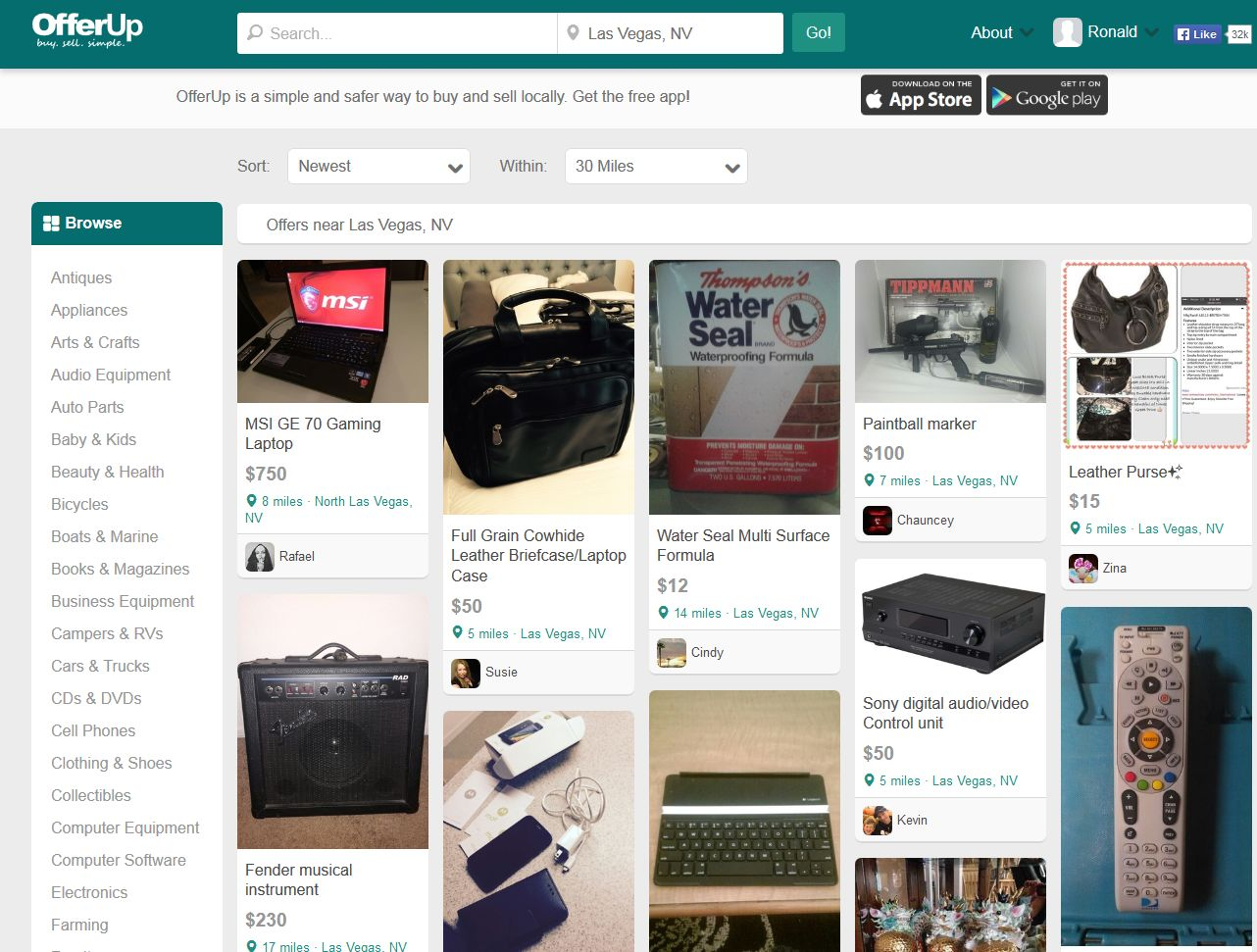 Buy And Sell Locally With Offerup Website Of The Day