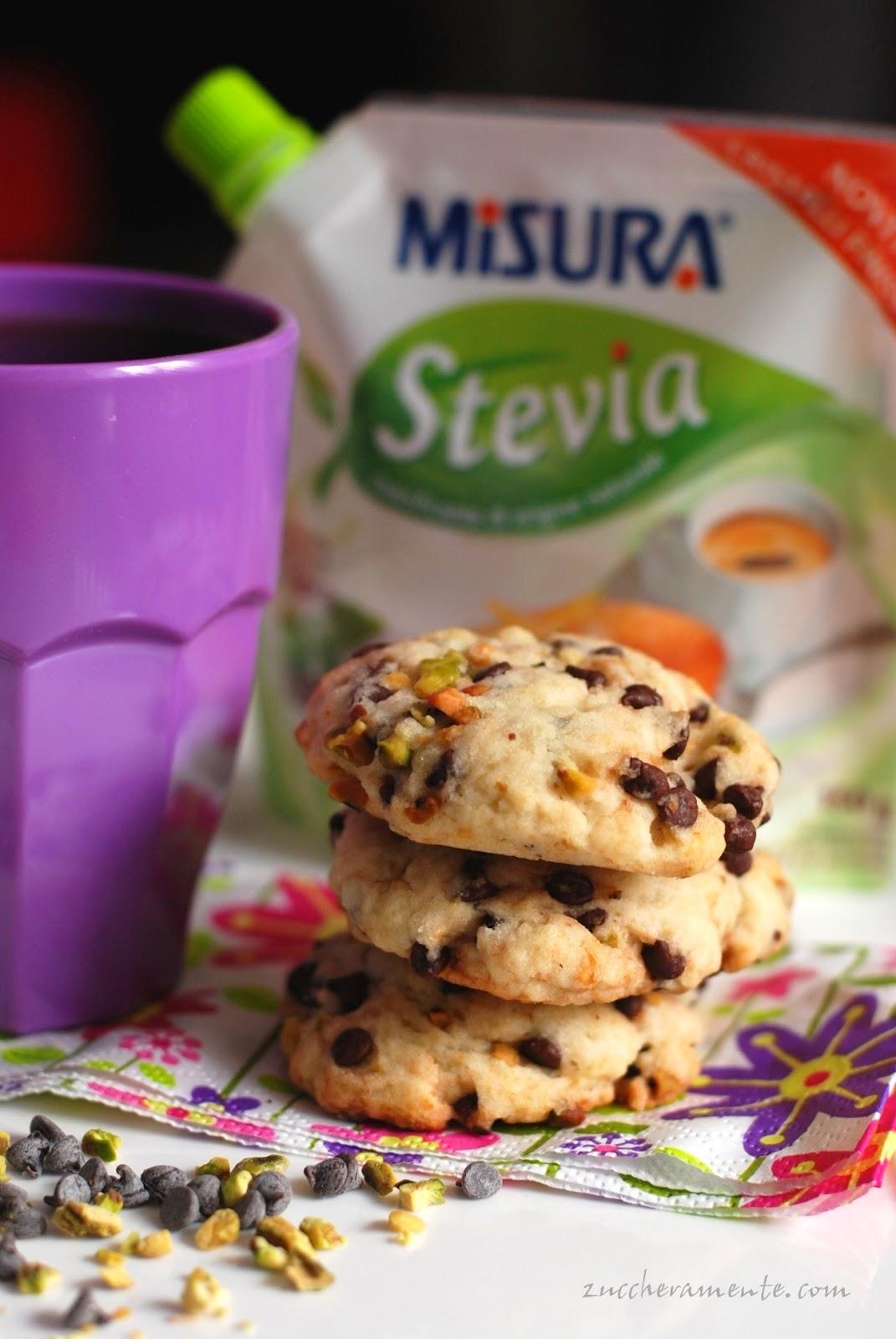 biscottoni cioccolato e pistacchi golosi ma molto leggeri