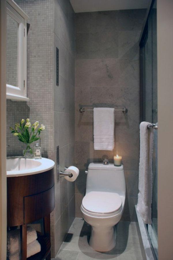 decoracao de banheiro retangular pequeno : decoracao de banheiro retangular pequeno:55 ideias para banheiros pequenos – Assuntos Criativos