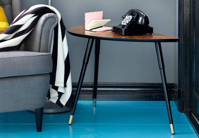 ikea se apunta a la moda de las mesitas auxiliares retro etxekodeco. Black Bedroom Furniture Sets. Home Design Ideas