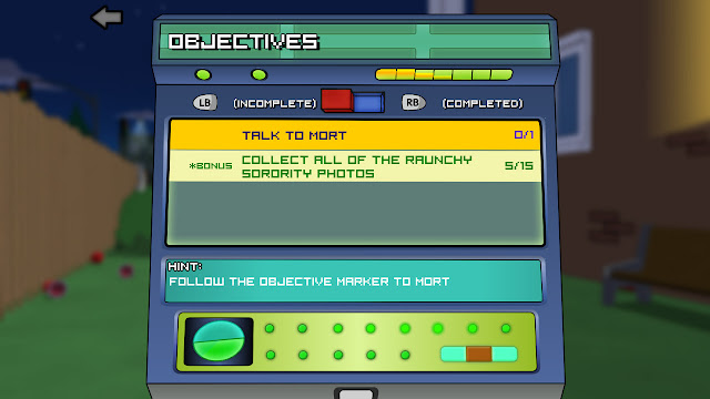 Family Guy Back to the Multiverse objectives screenshot