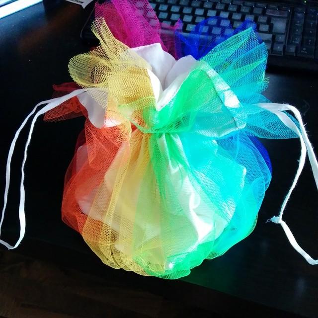 Regenbogen Tasche Beutel Rainbow Pouch Bag