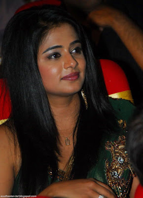 Priyamani in a Green Designer Saree with a Sleeveless Blouse