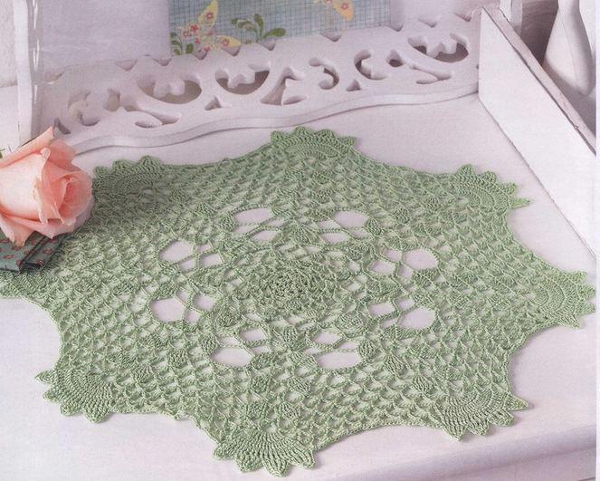 Esquemas crochet de carpeta verde