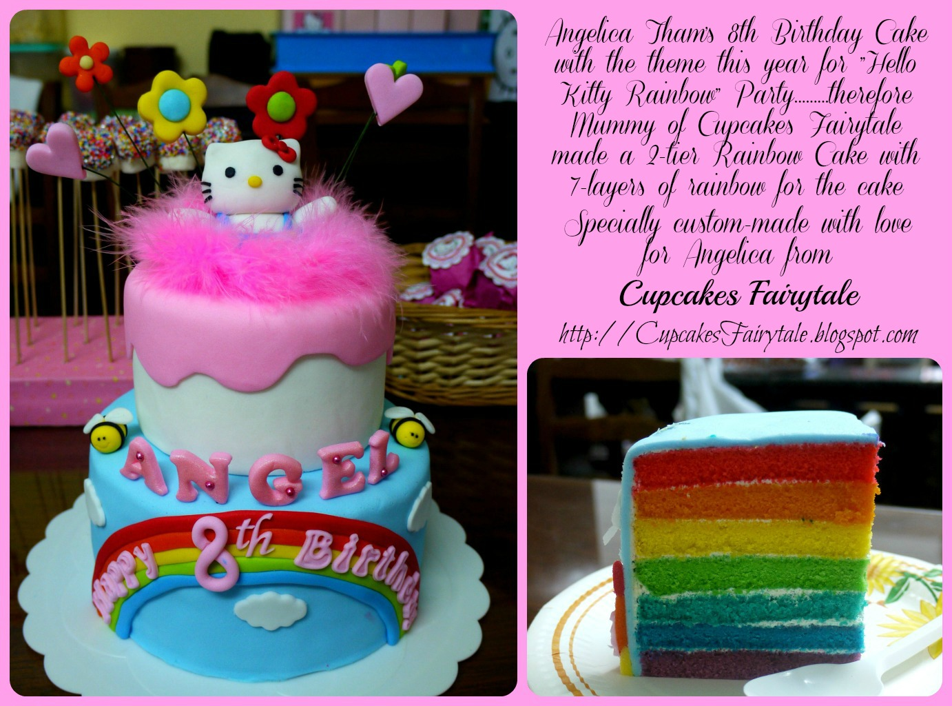 Cupcakes Fairytale ANGELICAS HELLO KITTY RAINBOW BIRTHDAY CAKE