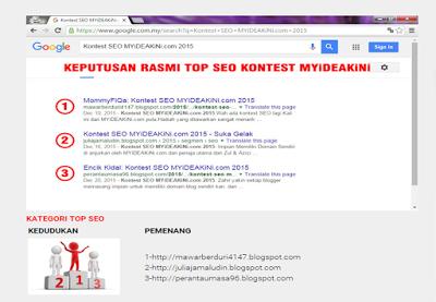 Menang Kontes SEO myideakini.com