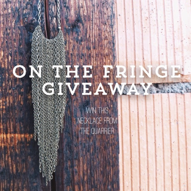 freebie friday, giveaway, jewelry giveaway, free jewelry, handmade jewelry, chain necklace, fringe necklace, the quarrier, etsy giveaway