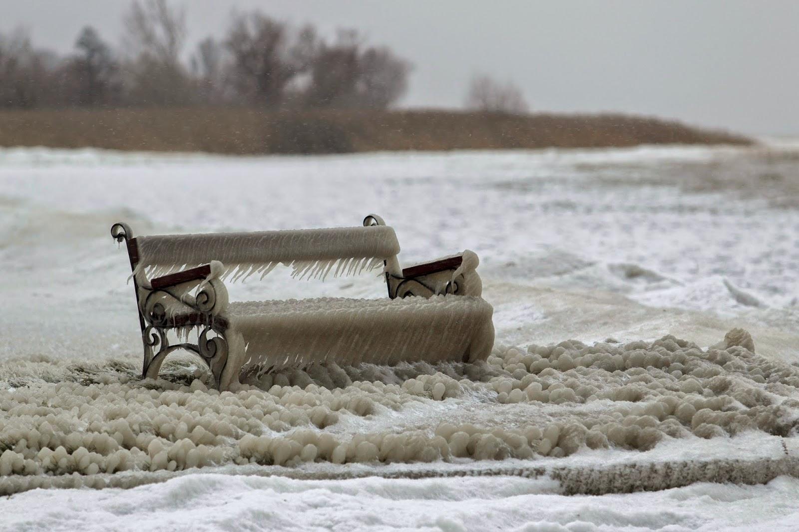 hófúvás, hópárkány, időjárás, téli természet, Balaton, jégalkotások, hóalkotások