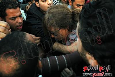 التحرش بليلى علوى فى التحرير