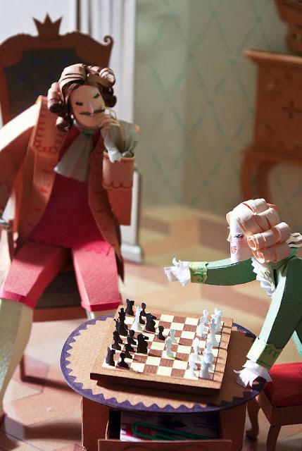 ajedrez de papel de People Too. Paper World