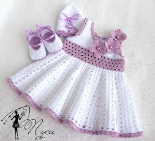 платье спицами девочке до года схемы