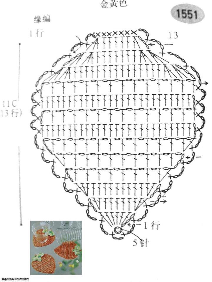 Вязание крючком объемная клубника