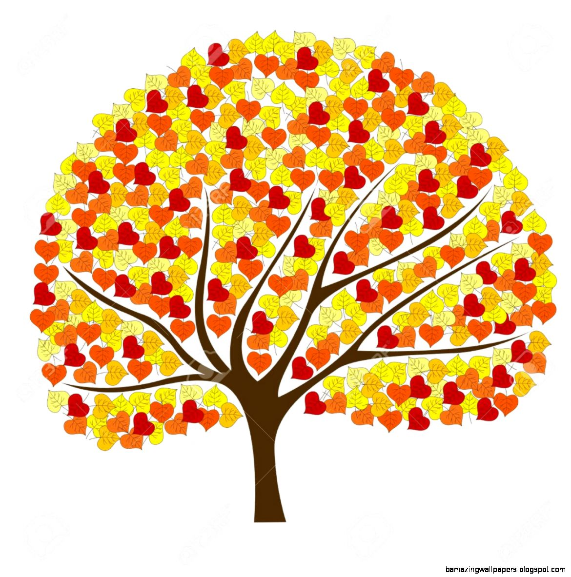 Cute Fall Tree Clipart   Clipart Kid