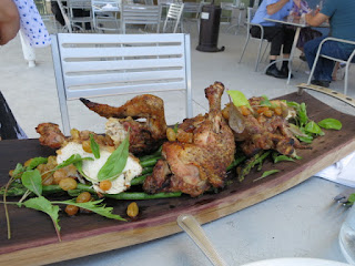 Roasted free-range chicken