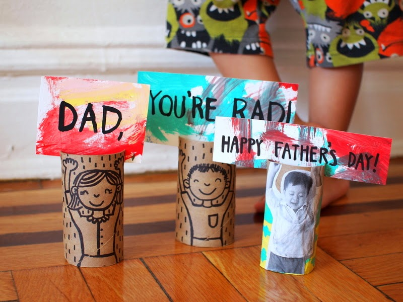 Happy Father's Day toilet roll cards