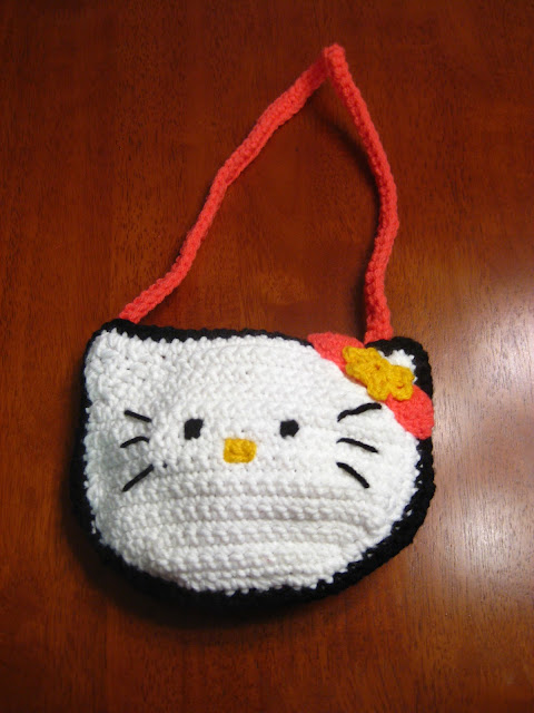 Crochet Purse Patterns Hello Kitty : My Secret Crochet Blog: Hello Kitty Purse