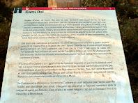 Plafó informatiu sobre el Camí Ral de Manresa a Vic