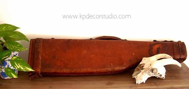 comprar maleta antigua vintage de cuero funda de arma