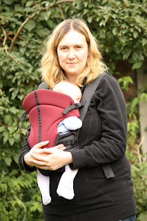 Young baby in the Comfy Babies baby carrier