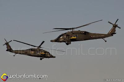 Equipo de demostración Arpía 51 de la Fuerza Aérea Colombiana.