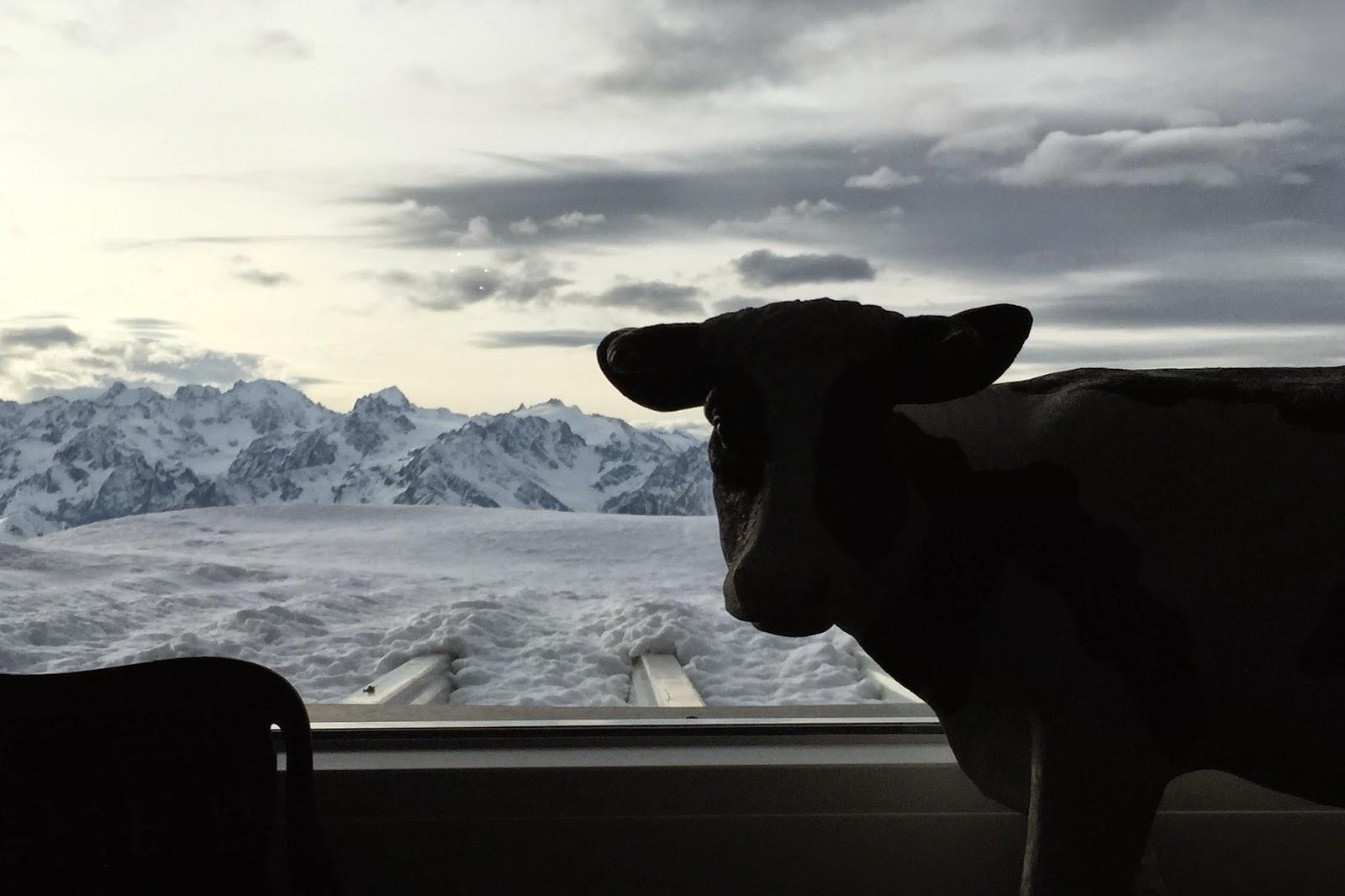 La Vache restaurant eat ski Verbier prix cost