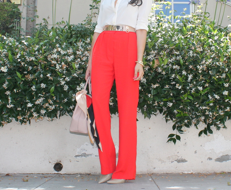 A Keene Sense of Style: Bright Red Pants