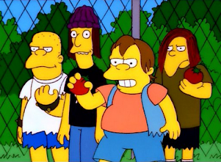 Nelson and gang Simpsons bullies