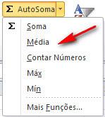 Excel 2010 - cálculos rápidos com autosoma