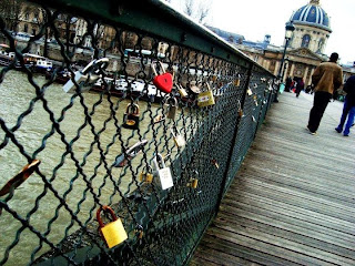 A Paris Love Lock Bridge When You're Single