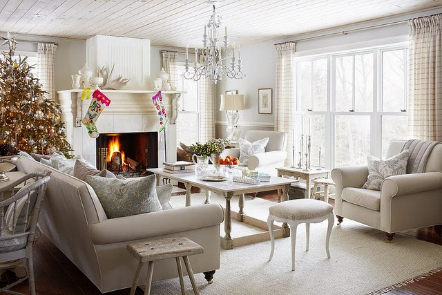 Winter Decorations Interior Design Living Room Picture 08