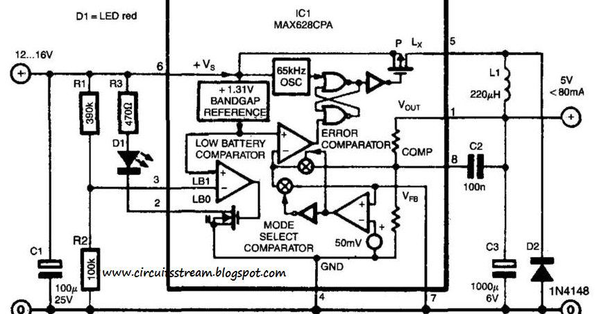 simple switch mode voltage regulator wiring diagram