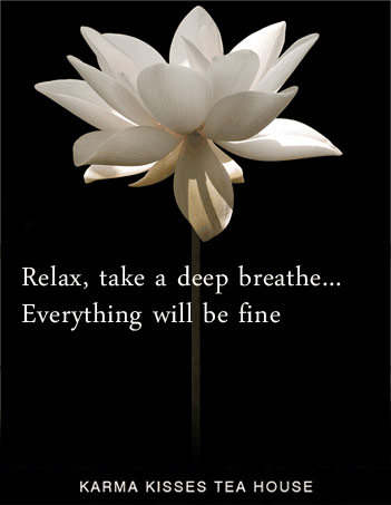 Relax, take a deep breathe... Everything will be fine - KarmaKisses.com
