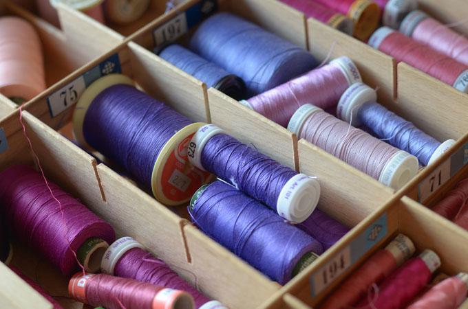 Maryandpatch bobines de fils violet