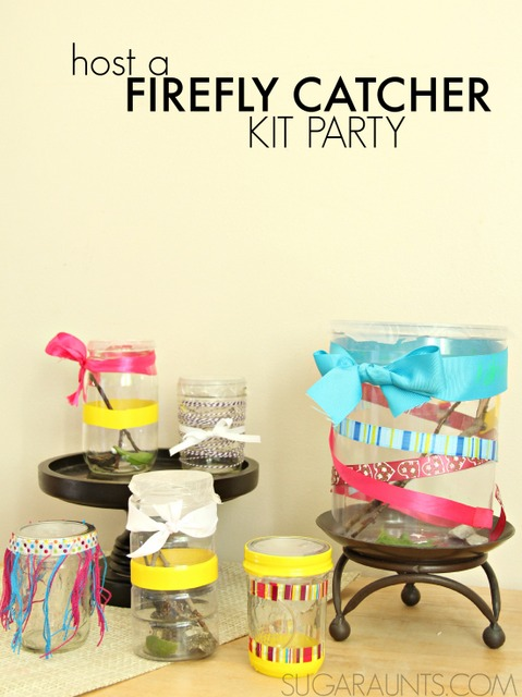 Host a firefly catcher creation station play date or craft area at a bug-themed party.