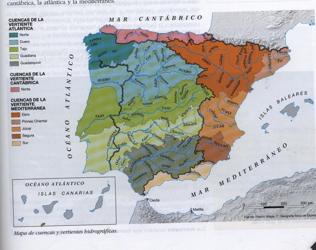 lago y rios de espana: