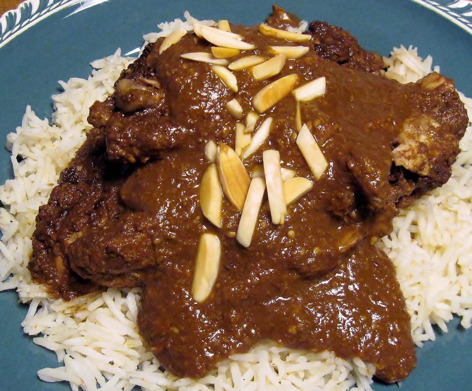 Chicken Mole over white rice