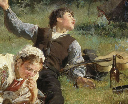 Alexei Korzukhin, The Sunday, 1884, detail