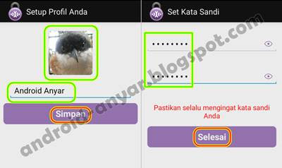 Password Aplikasi StealthChat