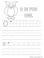 Owl Alphabet Tracer Pages Printable