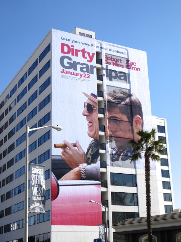Giant Dirty Grandpa film billboard
