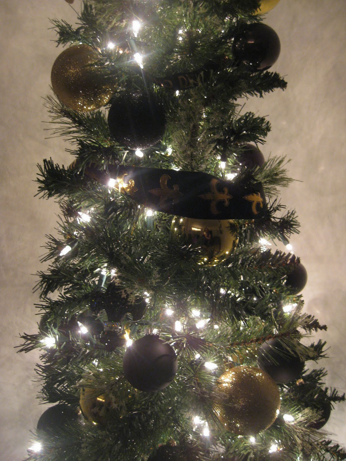 Johanna My Christmas Tree Theme Saints Black Gold