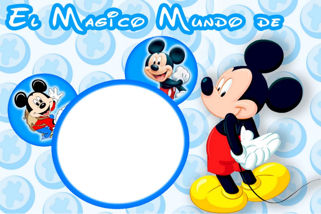 Marcos Png de Mickey Mouse para Niños.