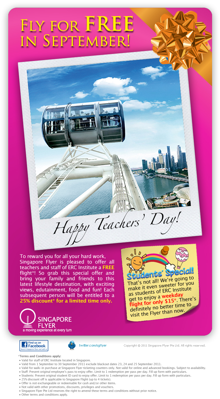 Singapore flyer discount coupon
