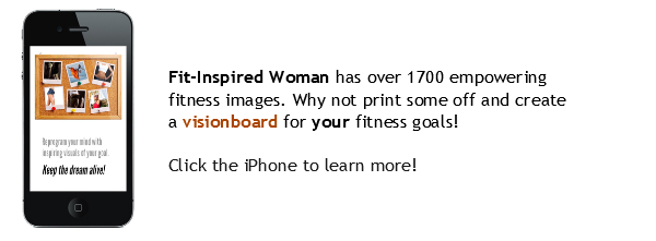 Screenshot from  the Fit-Inspired Woman: Fitness Motivation and Inspiration for Women app