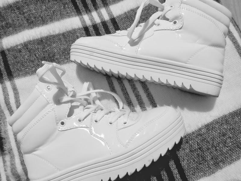 Coco California Sneakers White Plateau