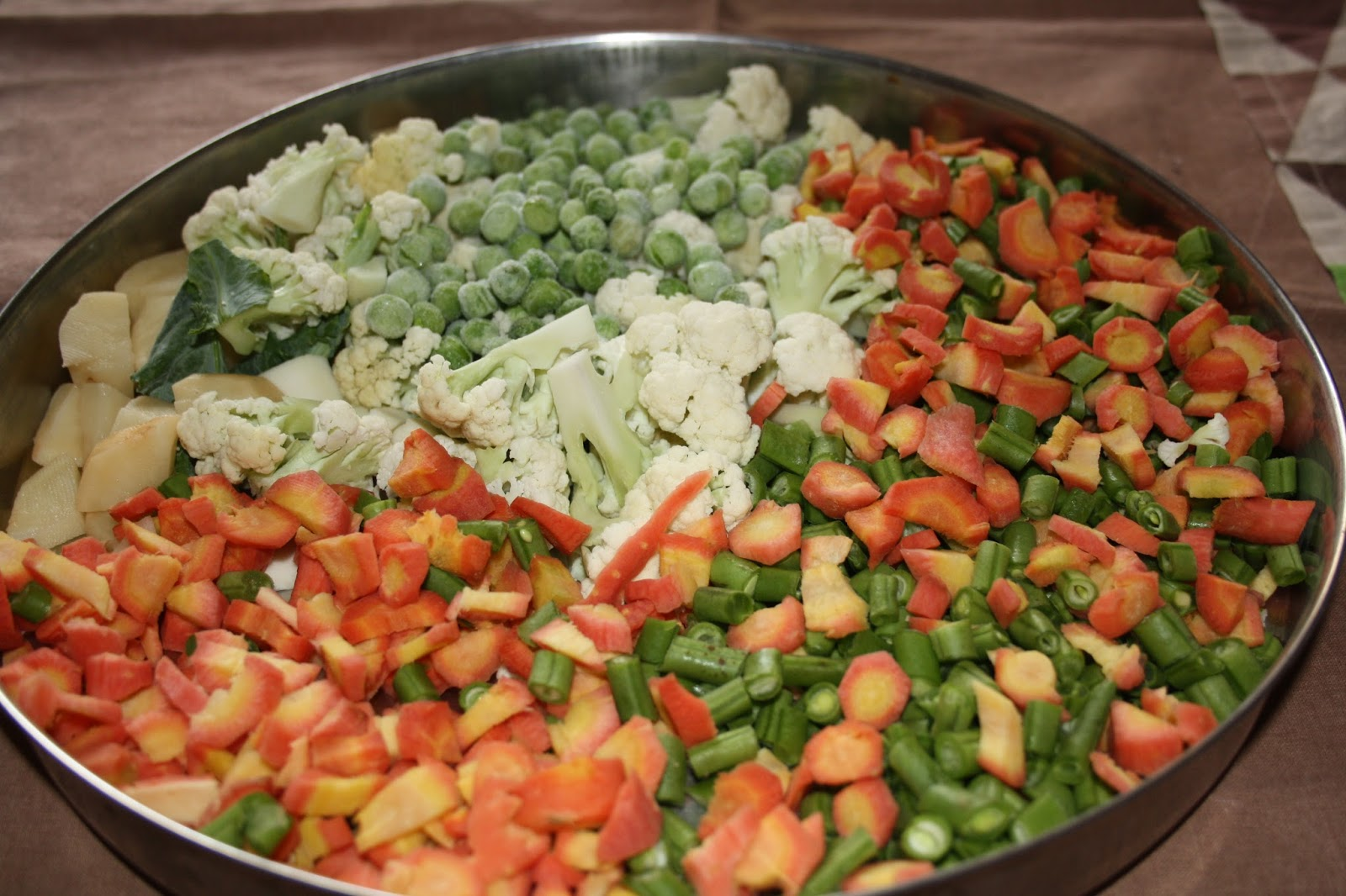 Vegetarijansko jelo sa pet vrsta povrća na indijski način (mix veggies) - Veg...