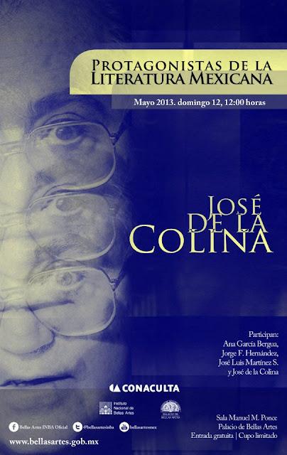 """Ciclo """"Protagonistas de la literatura mexicana"""" presenta a José de la Colina"""