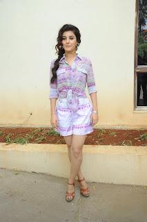 Isha Talwar in Lovely White purple printed Top and Mini Skirt Fresh Smile HQ Pics