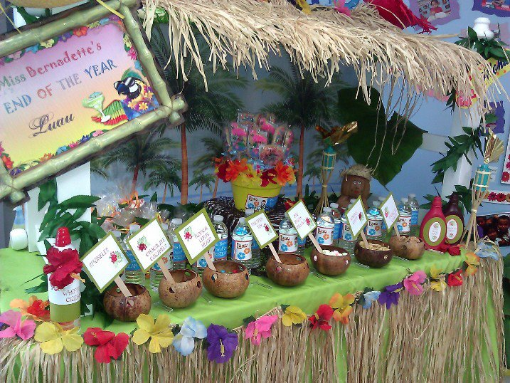 Party Frosting: Tiki/Luau party ideas/inspiration, 717x538 in 144KB